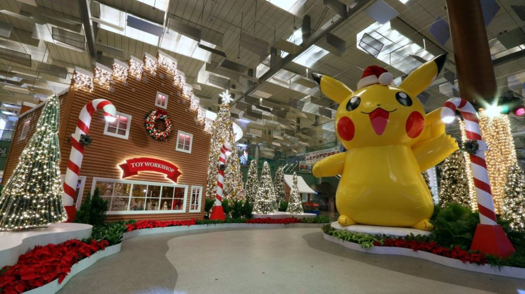 Changi Airport Pokemon Christmas