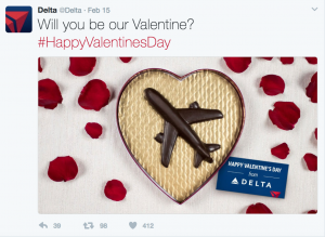 Delta Airlines Valentines Day